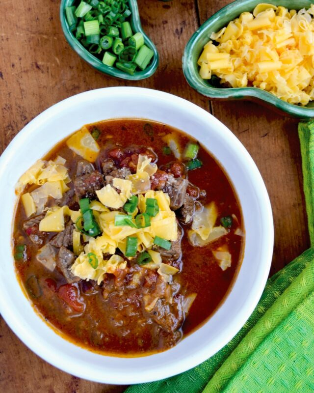 Classic Chunky Beef Chili