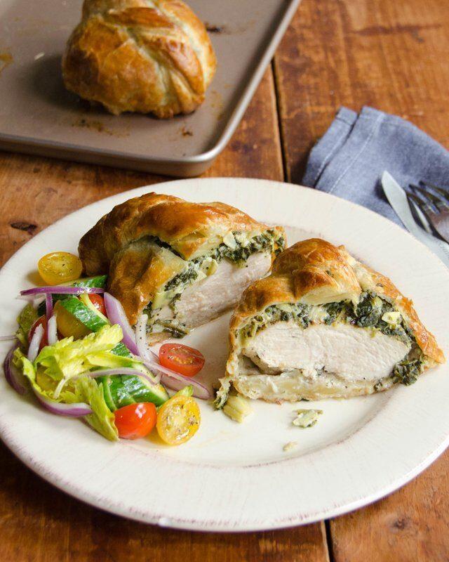 Spinach and Artichoke Chicken Wellington