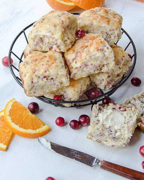 Cranberry Orange Buttermilk Biscuits