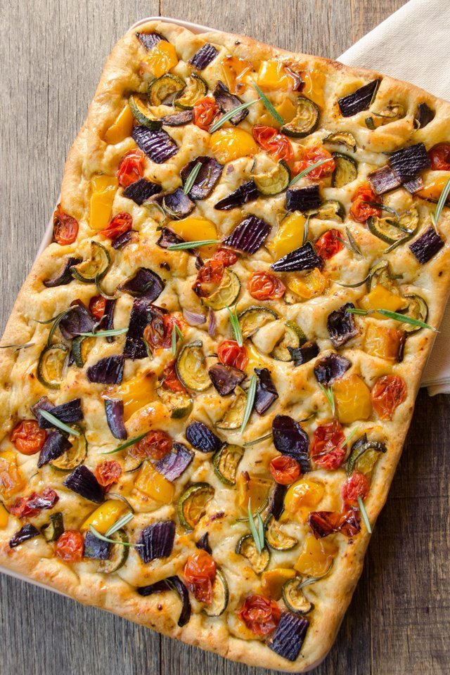 roasted vegetable focaccia blue jean chef meredith