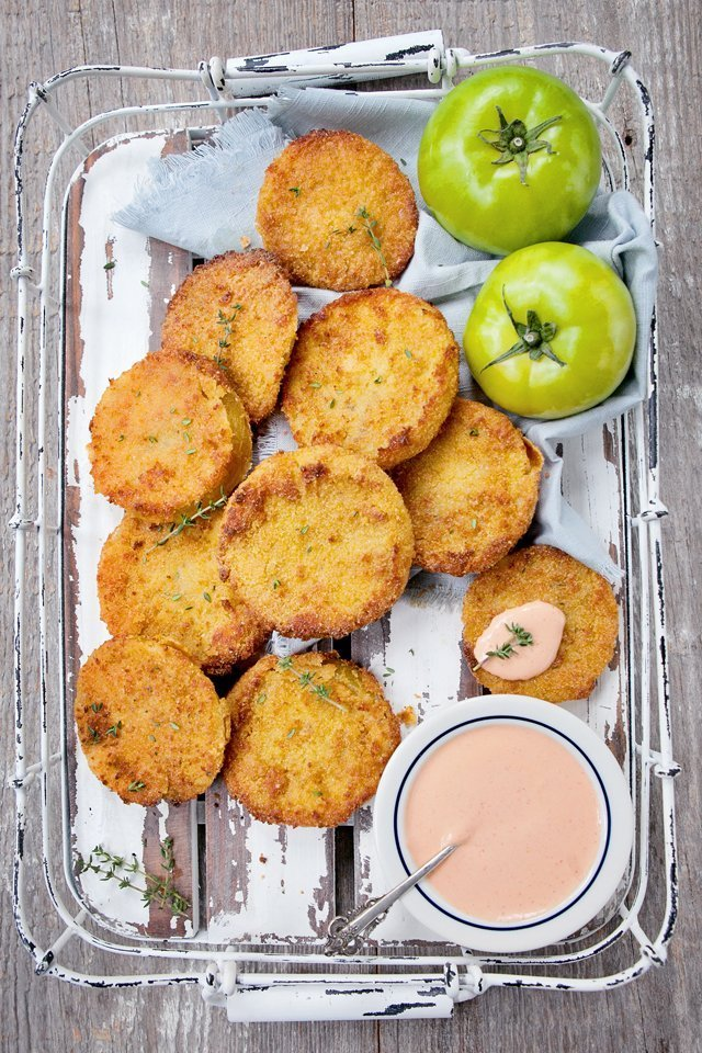 Fried Green Tomatoes Blue Jean Chef Meredith Laurence