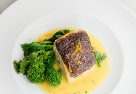 Halibut with Orange Butter
