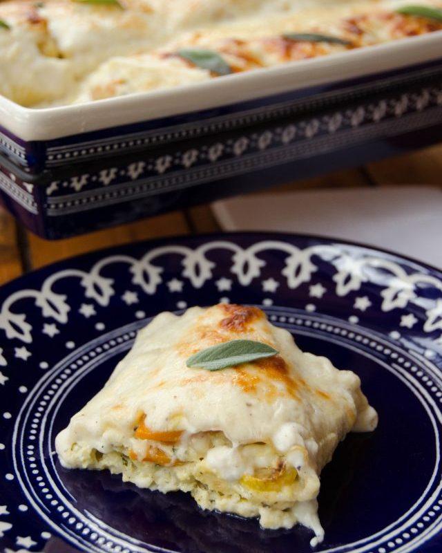 Roasted Squash Lasagna Roll-Ups