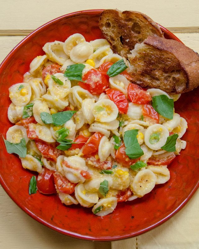 Creamy Corn and Tomato Orecchiette