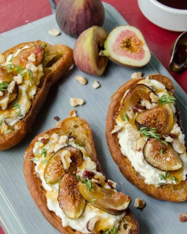 Fig Honey and Ricotta Toast