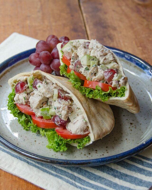 Turkey Waldorf Salad Pita