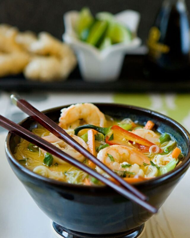 Asian Shrimp Noodle Soup