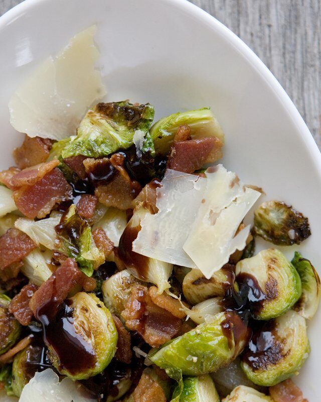 Brussels Sprouts with Bacon and Balsamic Reduction