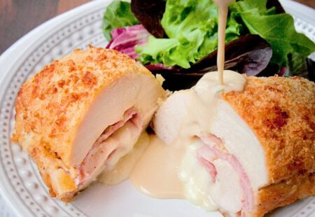 Parmesan Crusted Chicken Cordon Bleu