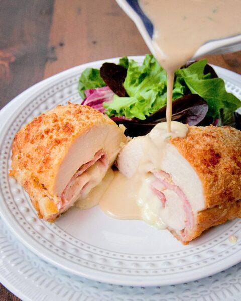 Parmesan Crusted Chicken Cordon Bleu