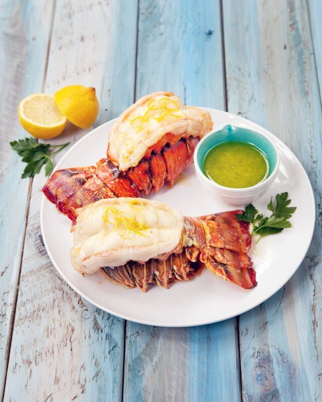 Lobster Tails with Lemon Garlic Butter