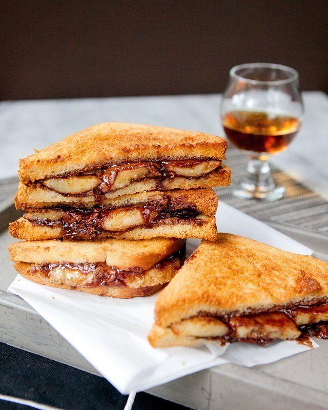 Midnight Nutella® Banana Sandwich