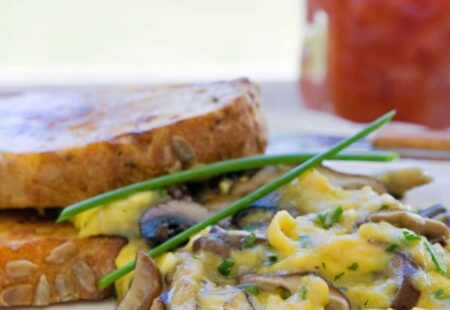 Scrambled Eggs with Mushrooms and Herbs