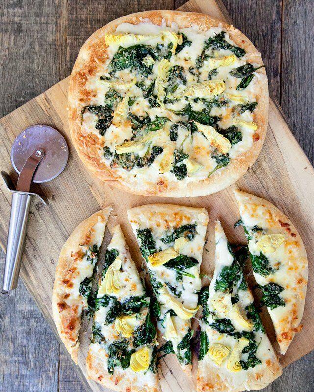 Spinach Artichoke White Pizza
