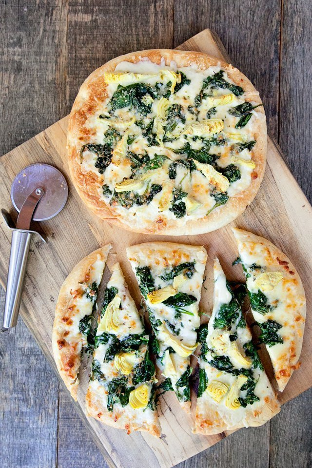 Spinach Artichoke White Pizza Blue Jean Chef Meredith Laurence