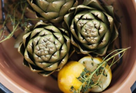 Pressure Steamed Artichokes with Lemon Aïoli