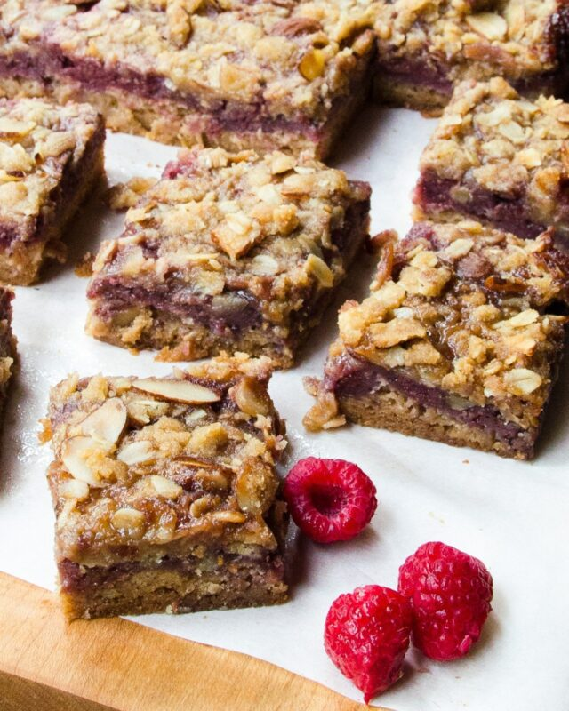 Raspberry Almond Fruit Squares