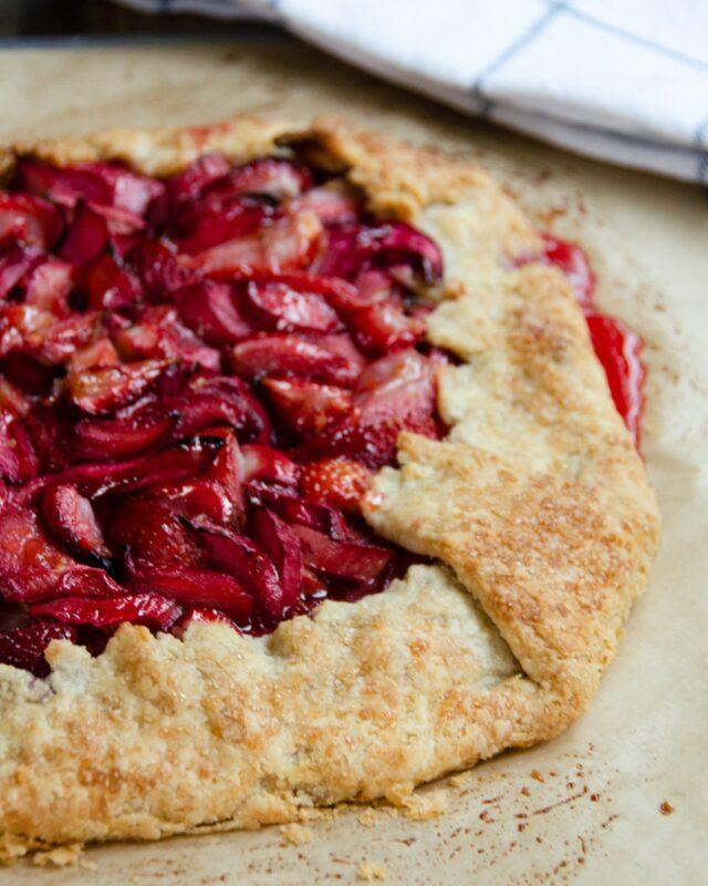 Free Form Strawberry-Rhubarb Tart