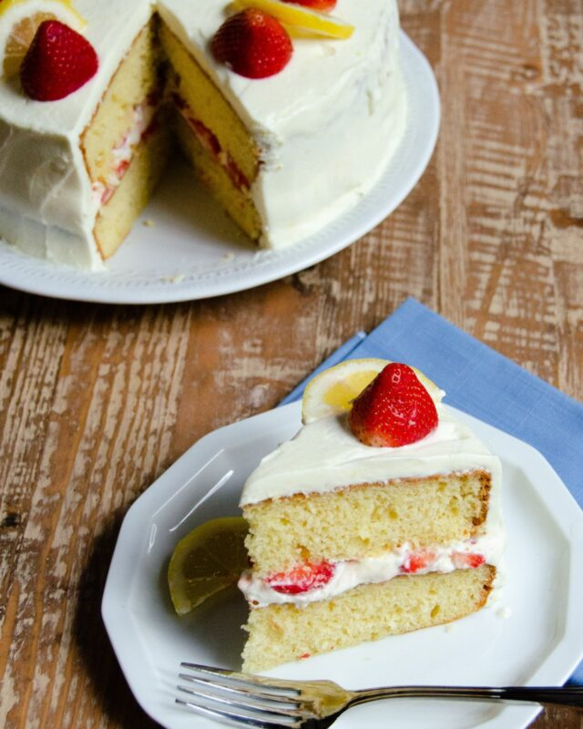 Strawberry and Lemon Mascarpone Cream Shortcake