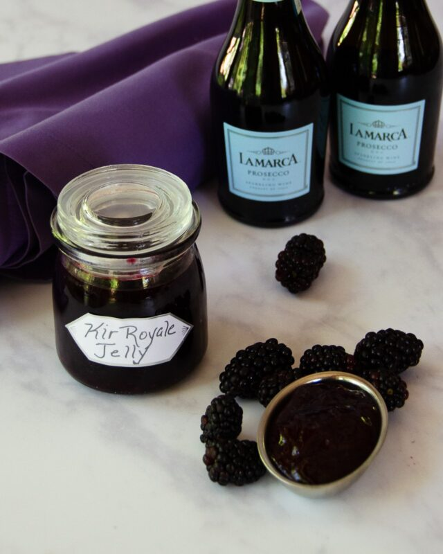 Kir Royale Blackberry Jelly