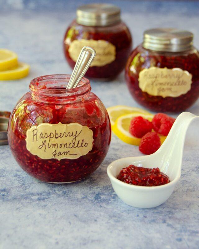 Raspberry Limoncello Jam
