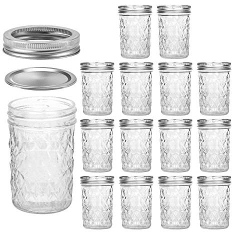 8-ounce Jam and Jelly Jars with Lids