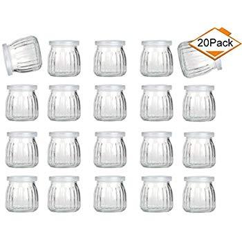 4-ounce Glass Yogurt Jars with Lids