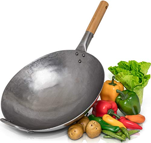 Round Bottomed Carbon Steel Wok