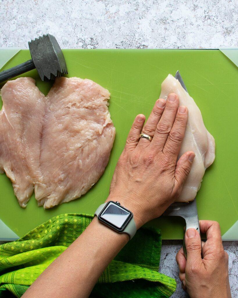 Chicken Paillard With Burrata Blue Jean Chef Meredith Laurence