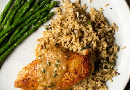 Pan Seared Chicken Breasts with Sherry Thyme Pan Sauce