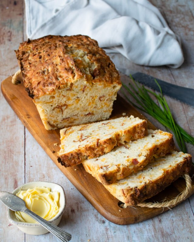 Bacon Cheddar Buttermilk Biscuit Bread