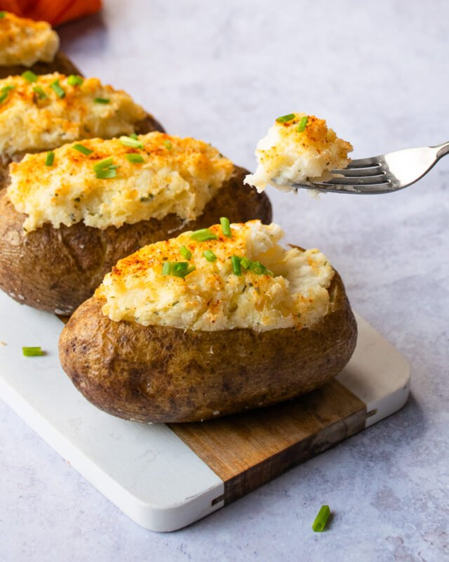 Boursin Twice Baked Stuffed Potatoes