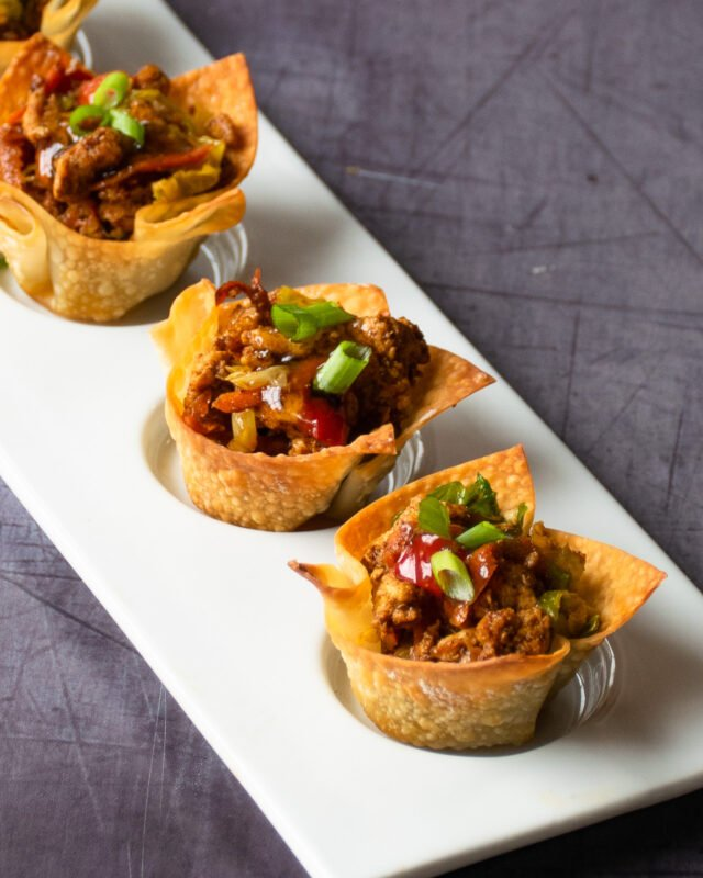 Chicken Egg Roll Wonton Cups