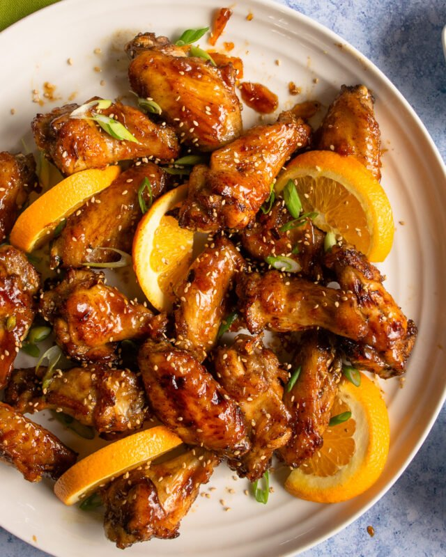 Air Fryer Orange Sesame Chicken Wings