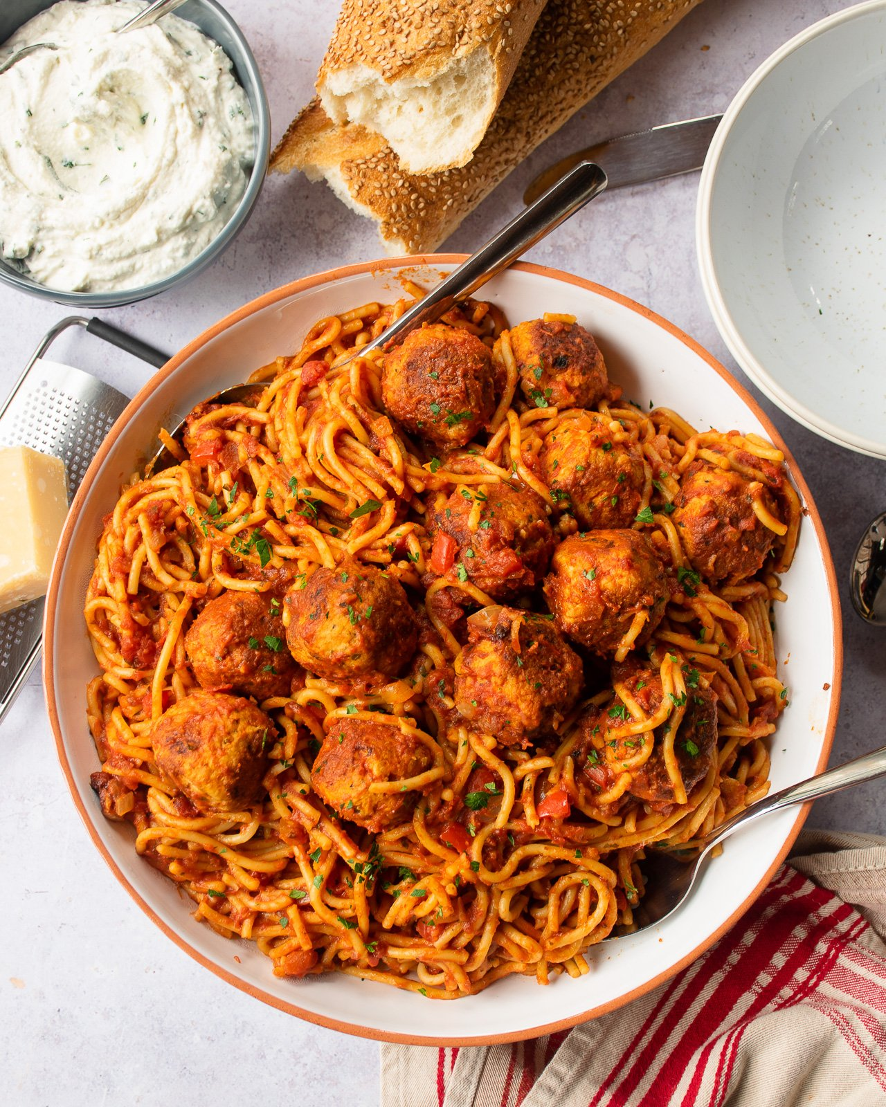 Instant Spaghetti And Meatballs Blue Jean Chef Meredith Laurence