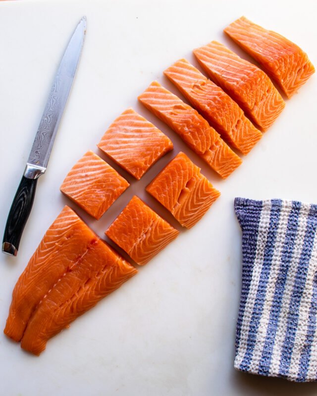 How to Cut a Side of Salmon