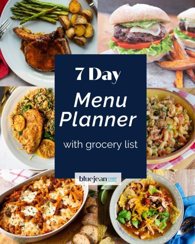 7-Day Menu Planner: Week 1