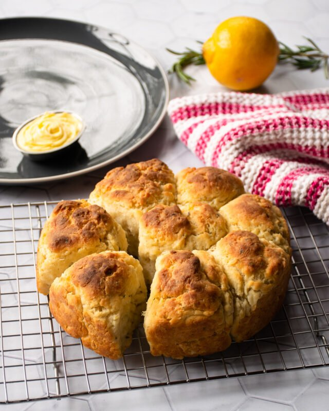 Lemon Rosemary Biscuits