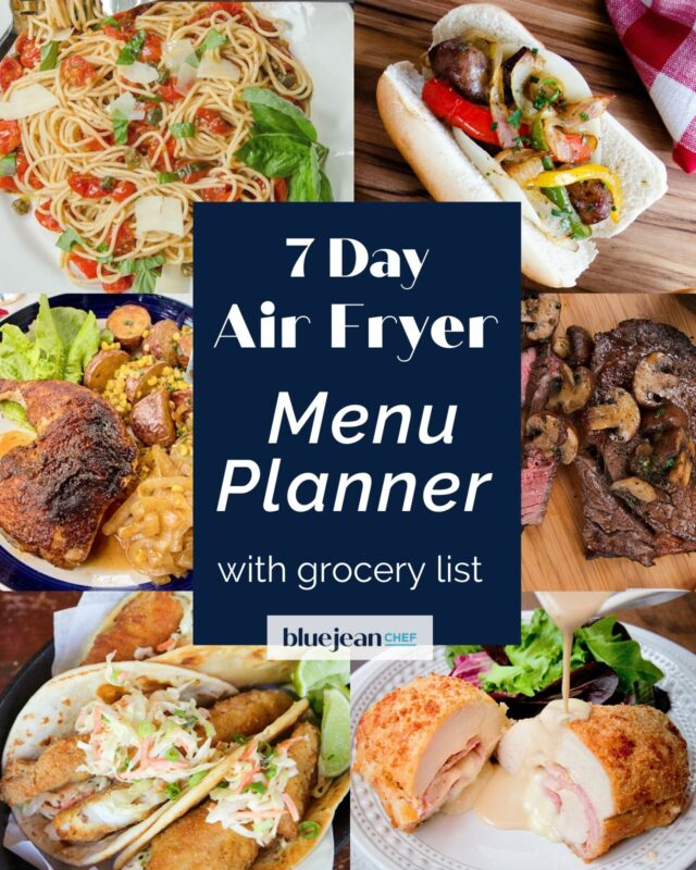 7-Day Menu Planner: Air Fryer