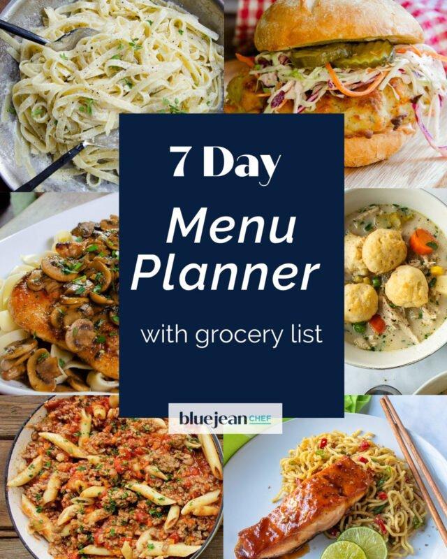 7-Day Menu Planner: Week 2