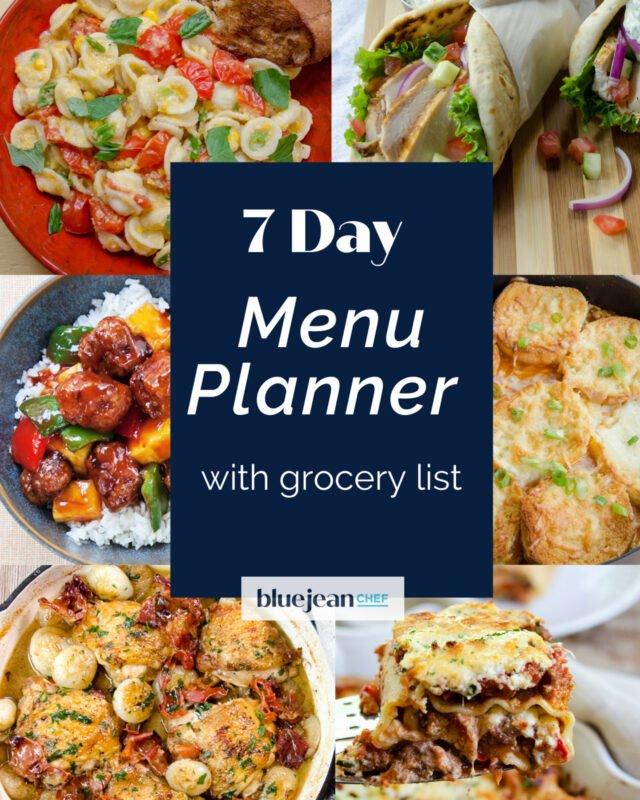 7-Day Menu Planner: Week 3
