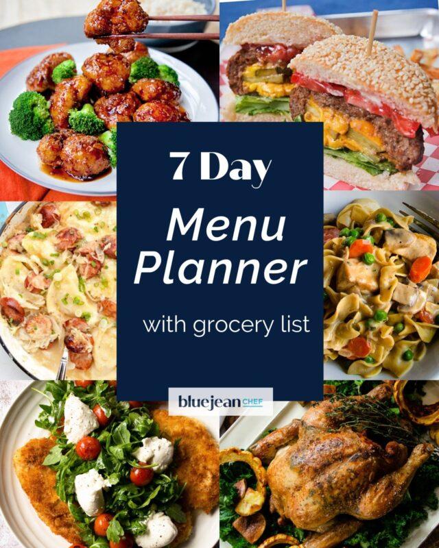 7-Day Menu Planner: Week 4