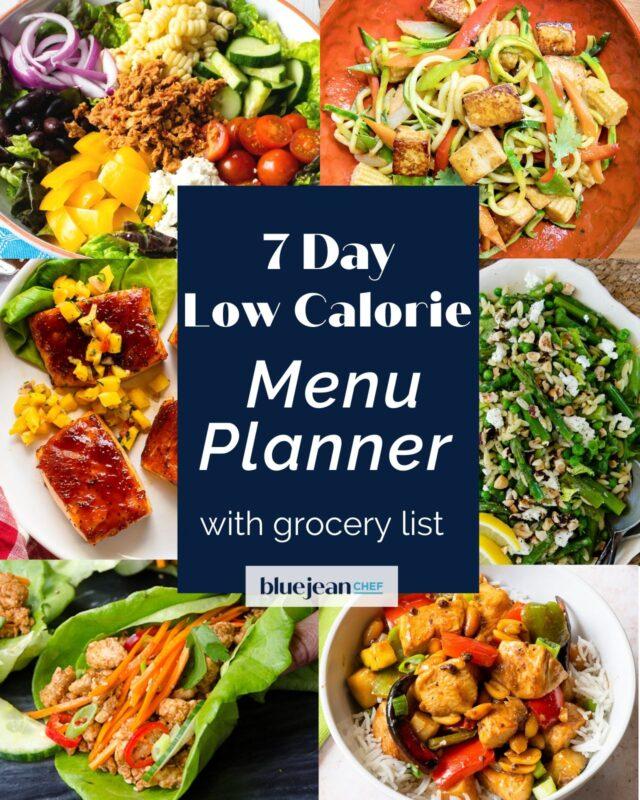 7-Day Menu Planner: Low Calorie