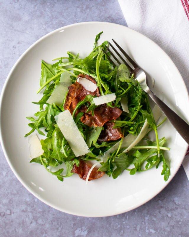 Arugula Parmesan Prosciutto Salad