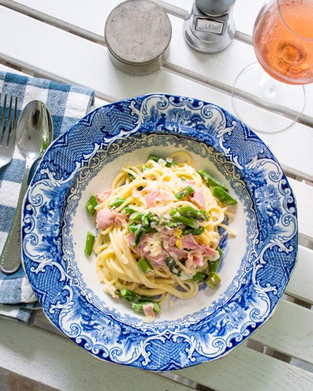 Creamy Ham and Asparagus Pasta