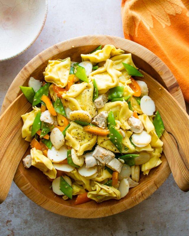 Sesame Chicken Tortellini Salad