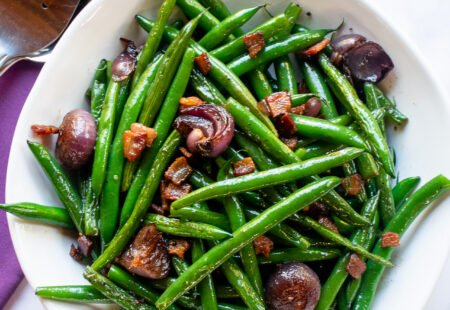 Green Beans, Pearl Onions and Bacon
