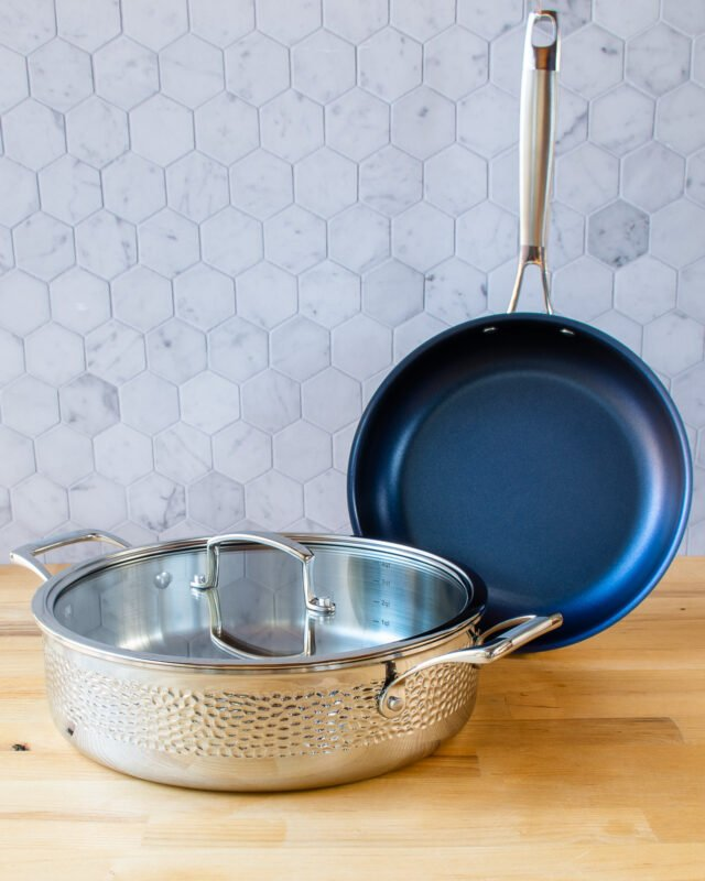 Blue Jean Chef® 3-piece Hammered Clad Cookware Set